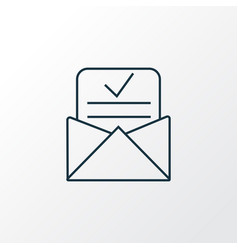 Admission letter icon line symbol premium quality vector