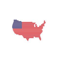 America map icon logo template design vector
