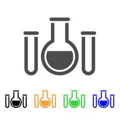 analysis glassware flat icon vector image