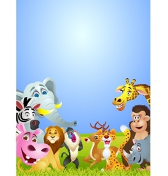 Animal cartoon vector