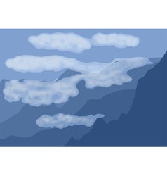 Arial landscape vector