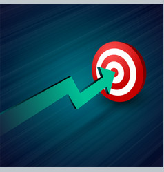 arrow moving towards target business concept vector image