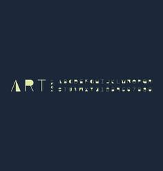 art font alphabet vector image