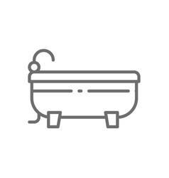 bath bathtub line icon vector image