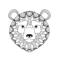 Bear icon Animal and Ornamental predator design vector image