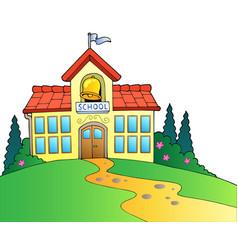 Big school building vector