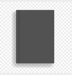 Black blank realistic a4 book mockup vector
