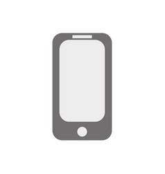 blank screen smartphone isolated on white vector image