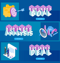business banners set 01 vector image