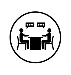 Business conversation icon black color vector