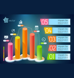 business growth infographics vector image