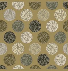 camo texture polka dots seamless pattern vector image