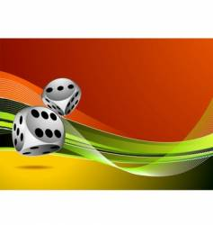 casino with two dice vector image