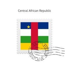 Central African Republic Flag Postage Stamp vector