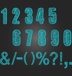 Chalkboard Numbers collections Chalk Numbers vector