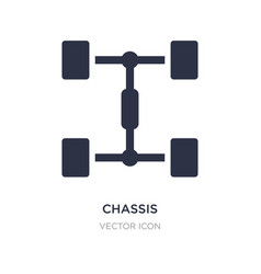 Chassis icon on white background simple element vector