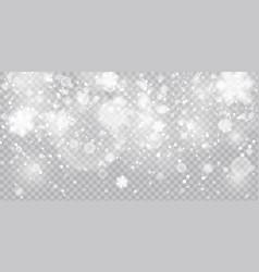 christmas snowfall falling vector image