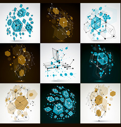 collection of abstract backgrounds created in vector image