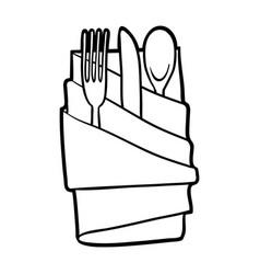 Coloring book cutlery vector