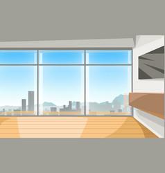 Contemporary apartment design interior window vector