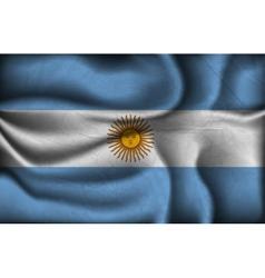 crumpled flag argentina vector image