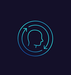 Customer retention returning client icon linear vector