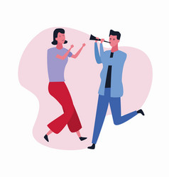 dancing couple avatar vector image