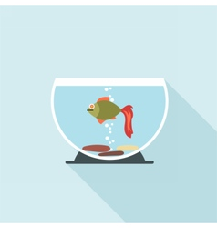 Digital fish in aquarium vector image