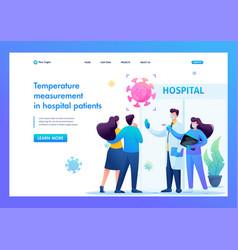 doctors check body temperature patients vector image