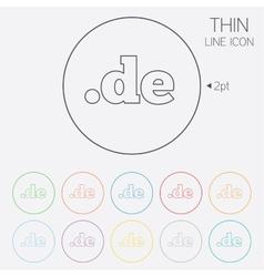 Domain DE sign icon Top-level internet domain vector