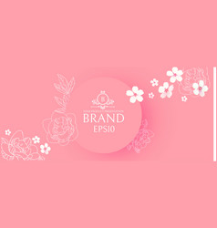 elegant circle banner with hand drawn elegant vector image