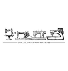 evolution of sewing machines vector image