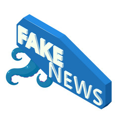 Fake news icon isometric style vector