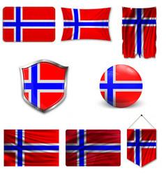 Flag iceland vector