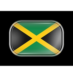 Flag of Jamaica Rectangular Shape vector