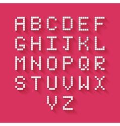 Flat Pixel Alphabet vector image
