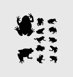 Frog Silhouettes vector