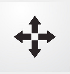 Fullscreen move arrow sign icon flat design vector