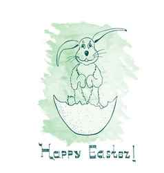 Funny easter bunny vector