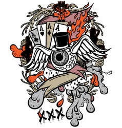Gambler tattoo vector