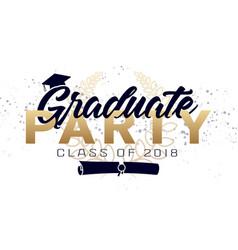 Graduation label text for graduation vector