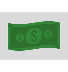 Green bill of money concept vector