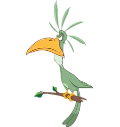 Green Parrot Cartoon Character vector image