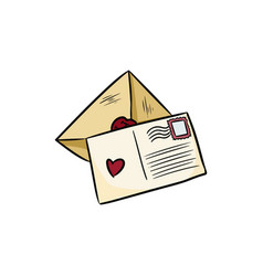 Greetings love letters doodles vector