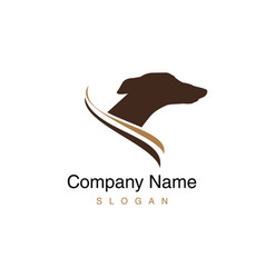 greyhound dog logo vector image