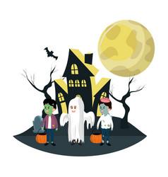 halloween kids cartoons vector image