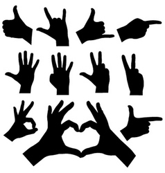 hands vector image
