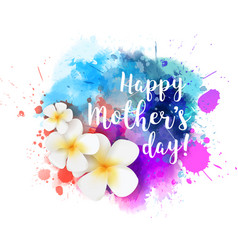 Happy mothers day watercolor splash vector