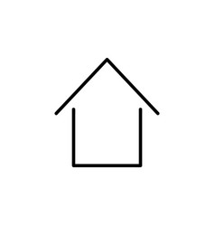 home outline icon vector image