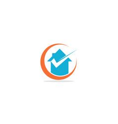 home realty check mark logo vector image
